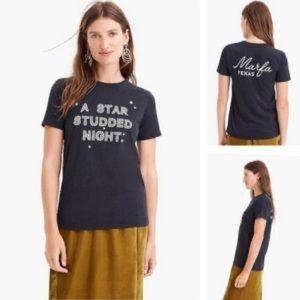 J. Crew Graphic Tee A Star Studded Night Marfa, TX